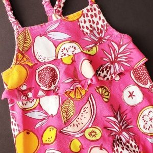 Baby Girls Fruit Print Bubble Romper